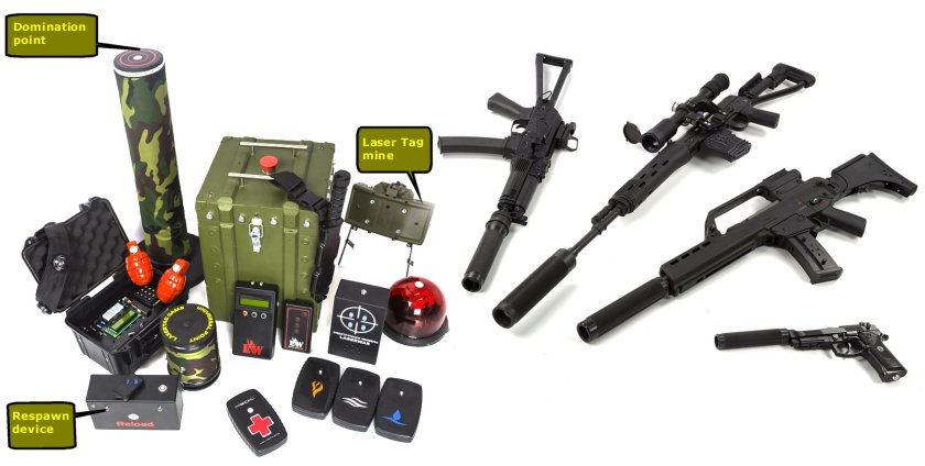 Models of LaserTag Equipment and aditional devices