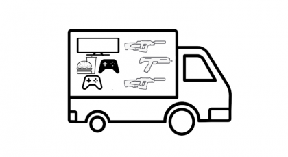 Game truck laser tag equipment