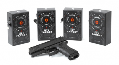 Laser tag shooting range package